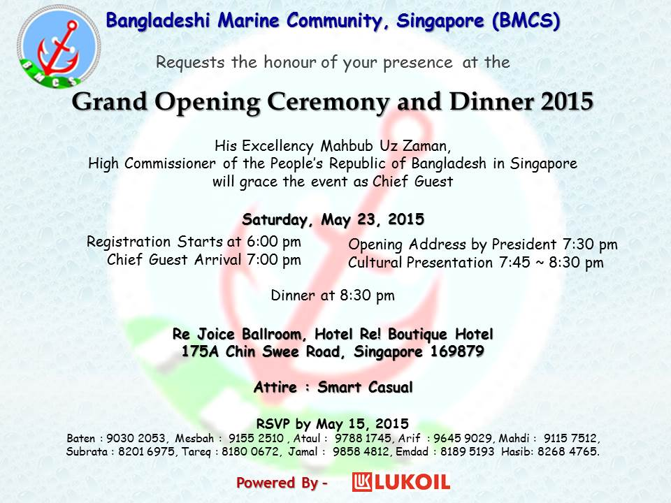 BMCS Grand Opening Ceremony and Annual Dinner 2015