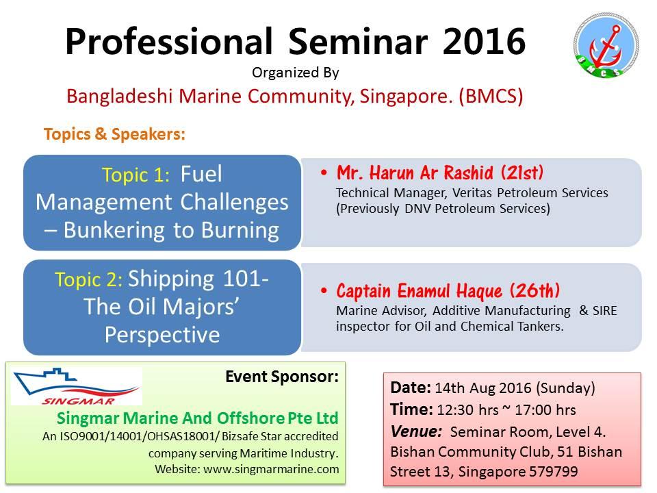 BMCS Professional Seminar 2016