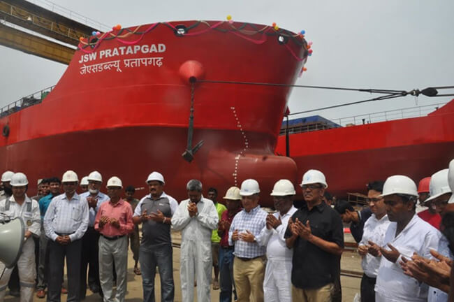 WMSHL Launches Largest Ship Made In Bangladesh Successfully