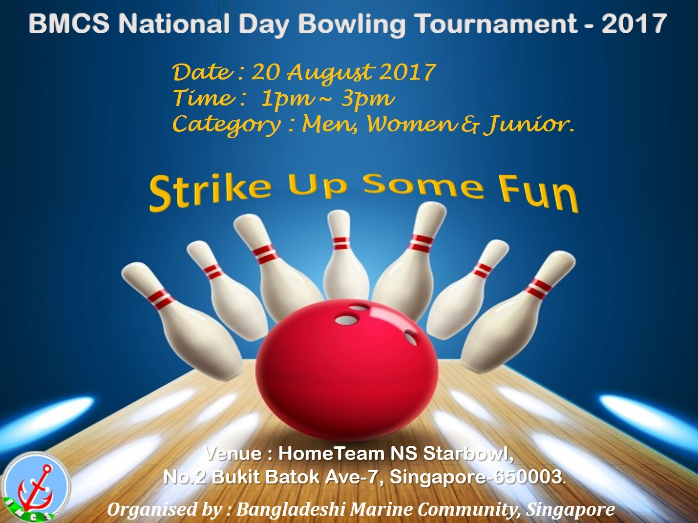 BMCS National Day Bowling Competition: 20th August 2017